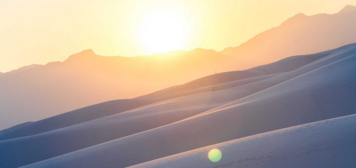 USA White Sands Desert Sunset