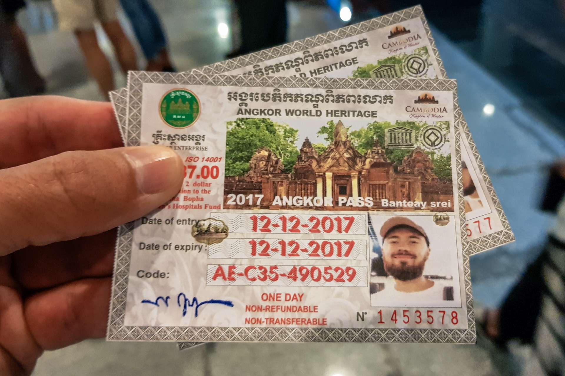 Cambodia Angkor Wat pass