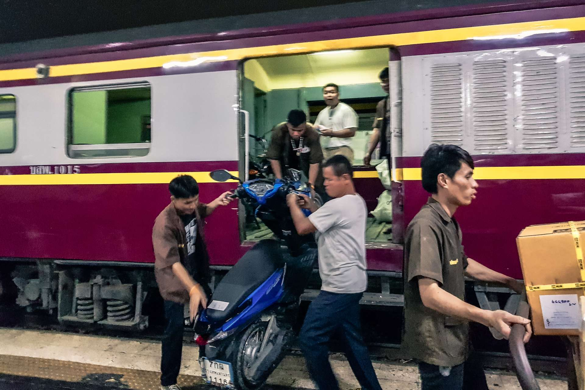 Bangkok bike on train