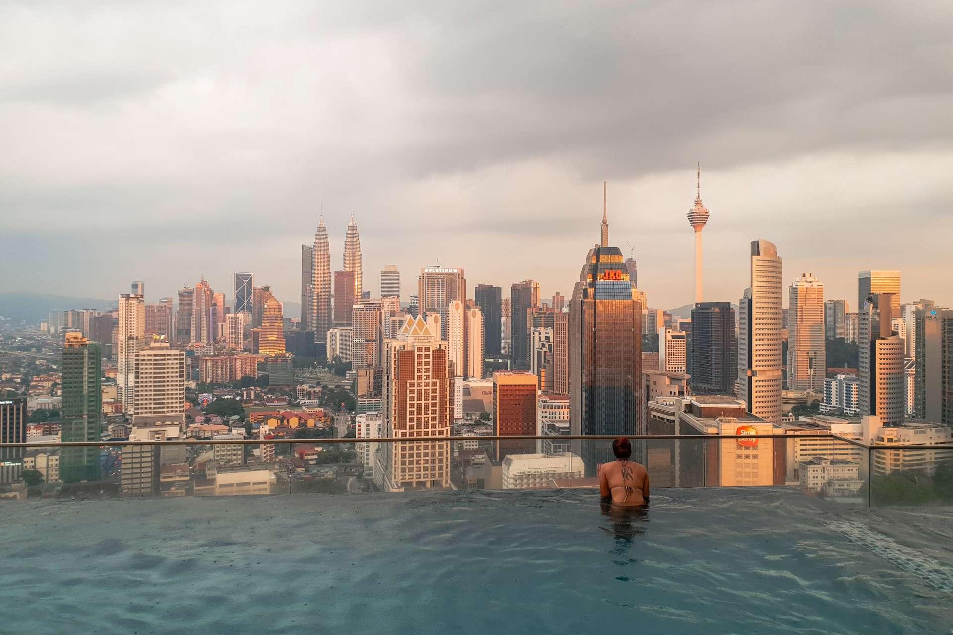 Malaysia Kuala Lumpur pool roof skyscraper