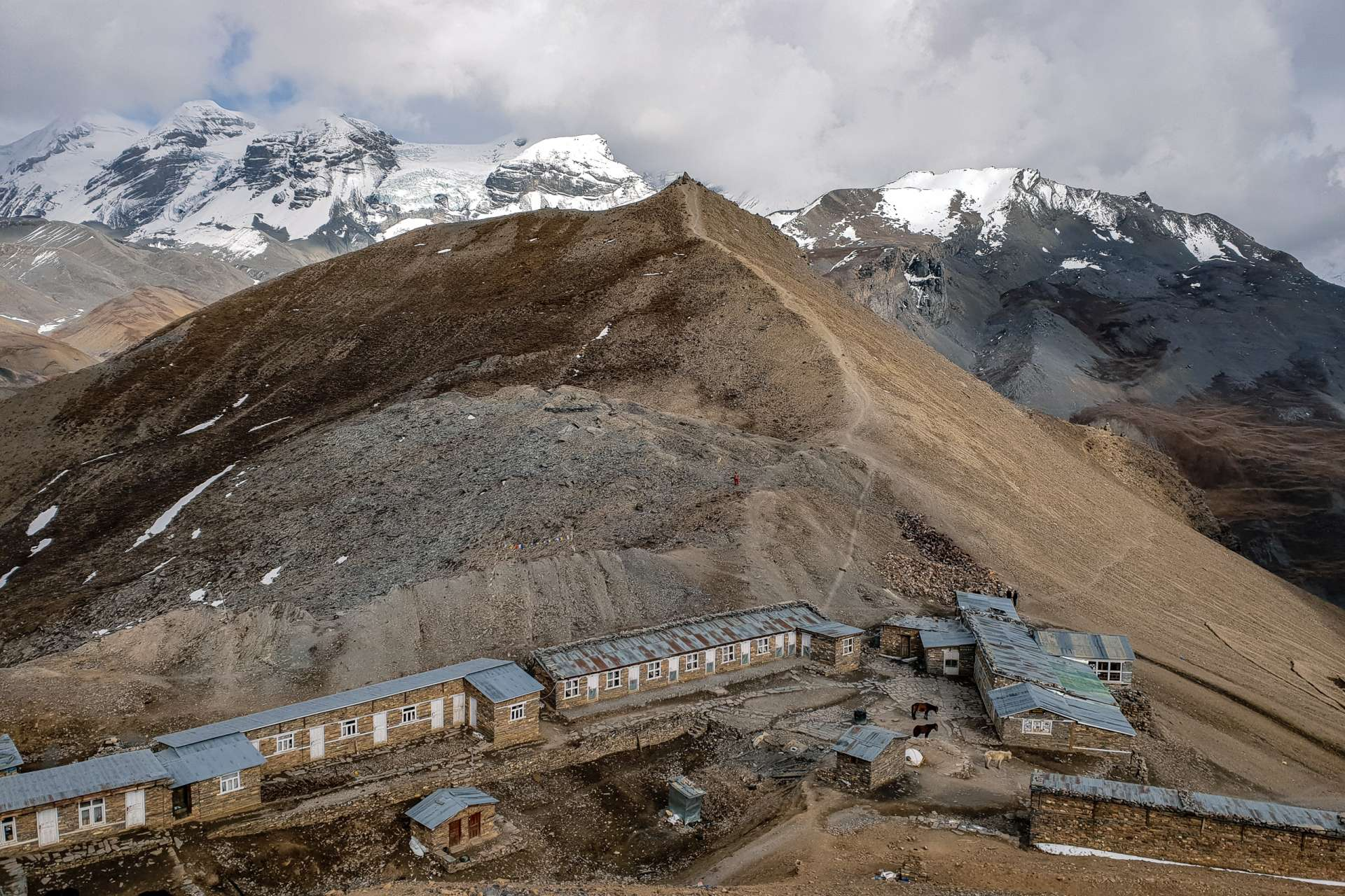 Nepal Annapurna Circuit trekking High Camp