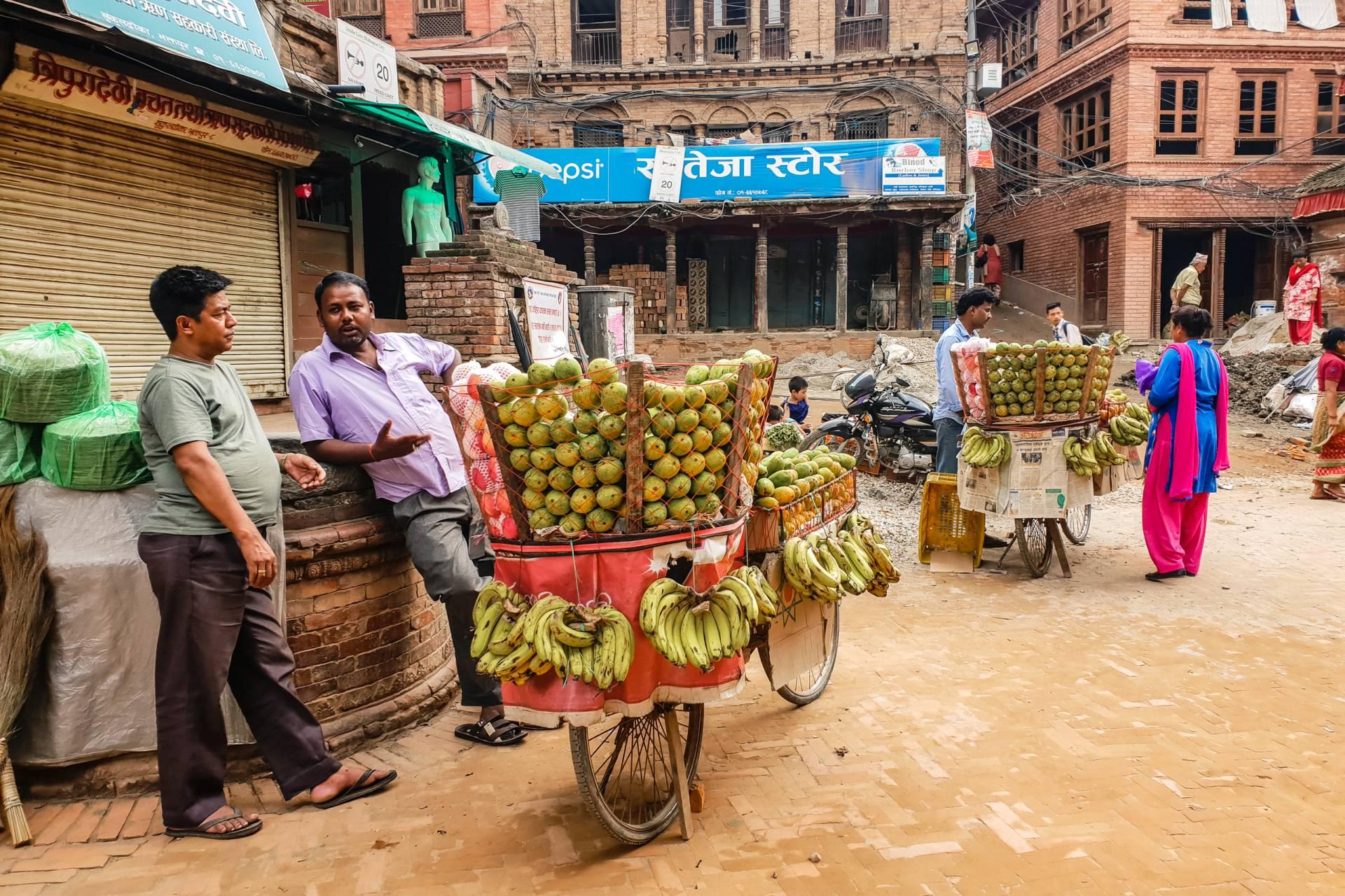 Nepal Kathmandu sell fruits