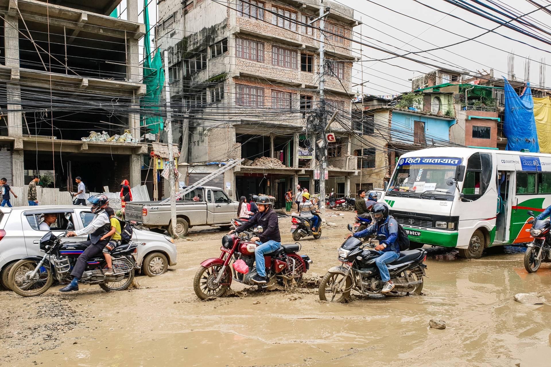 Nepal Kathmandu rain