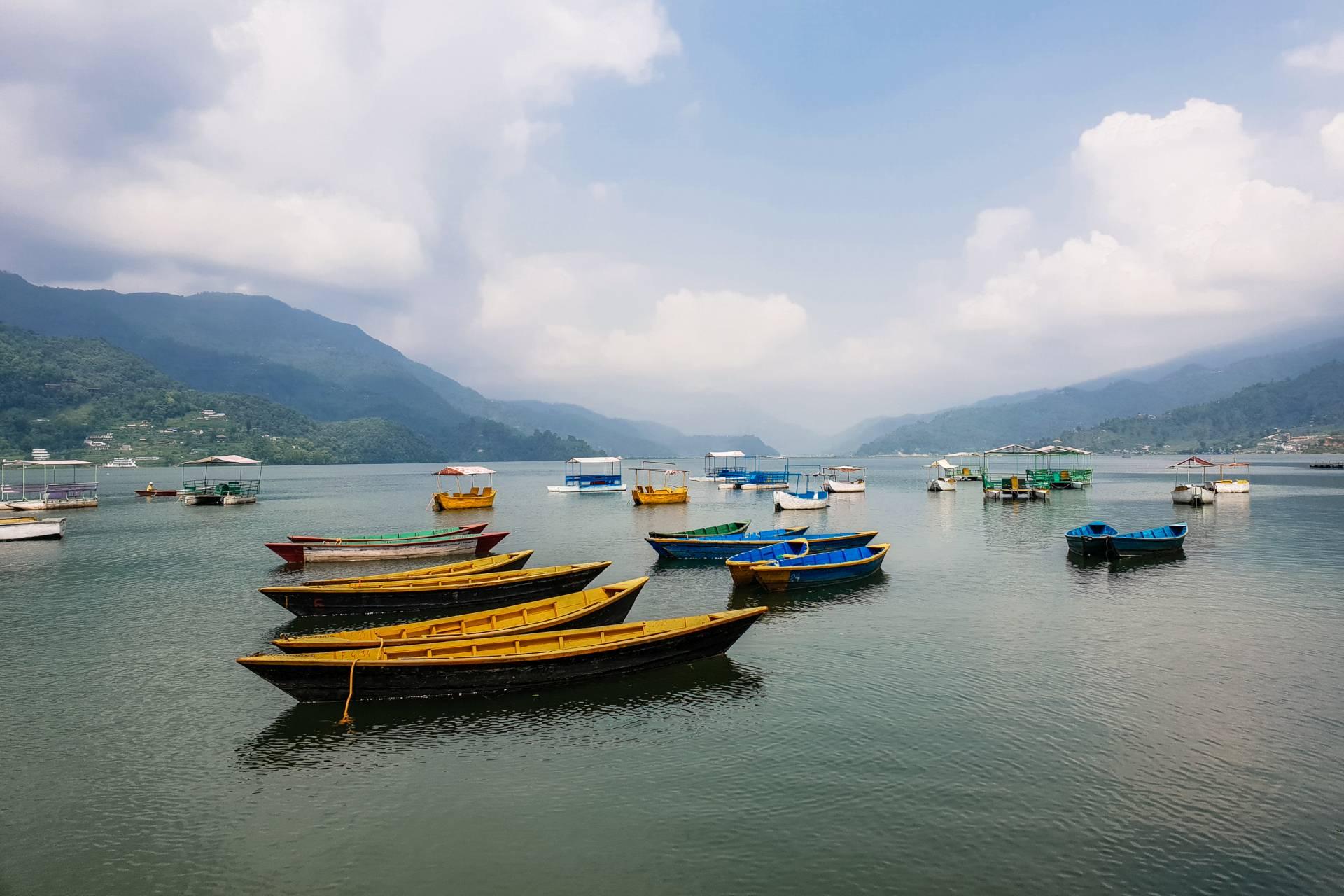 Nepal Pokhara lake
