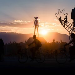 USA Burning Man 2018 Sunset