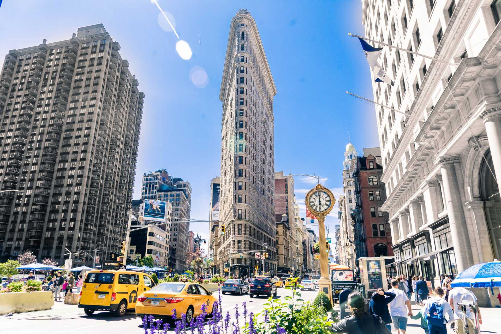 usa new york flatiron building